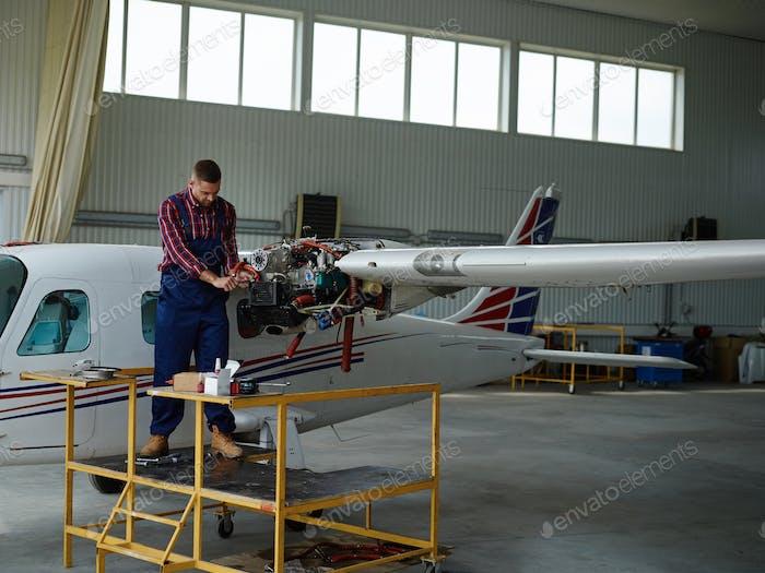 Hangar worker