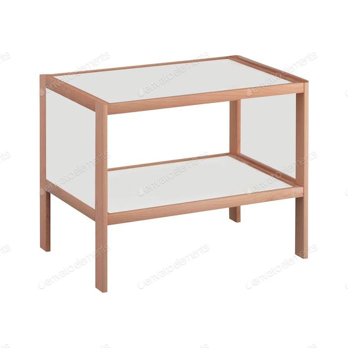 Estantería de De madera en blanco
