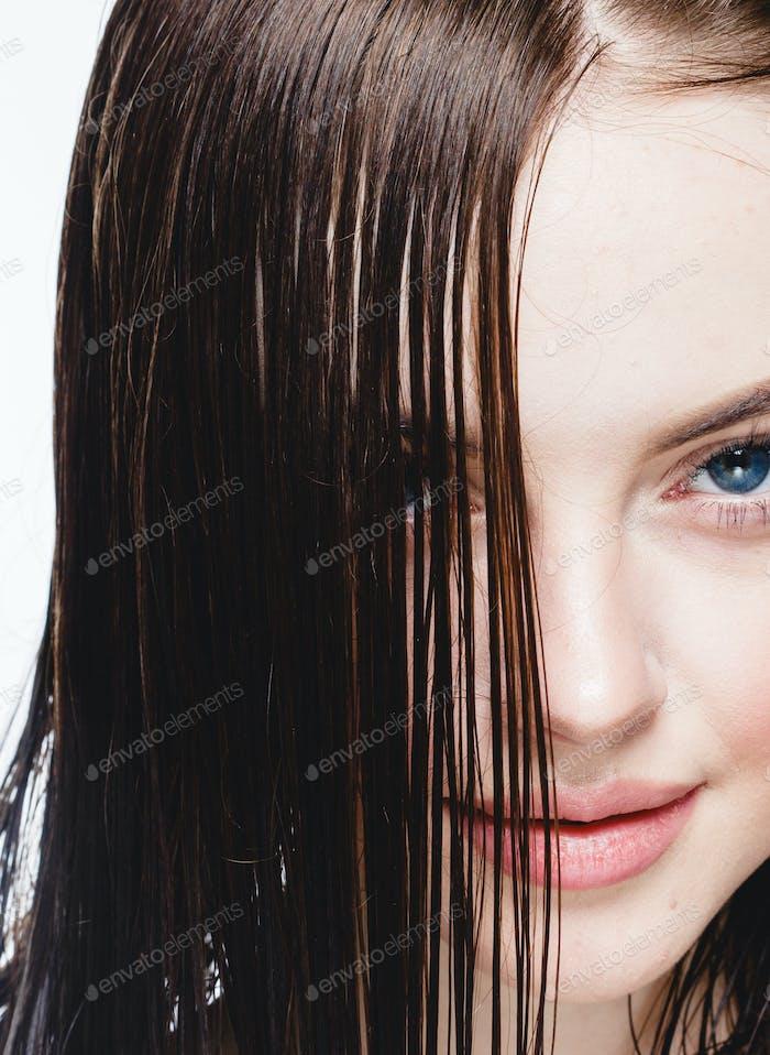 Warm Hair Woman Beauty portrait