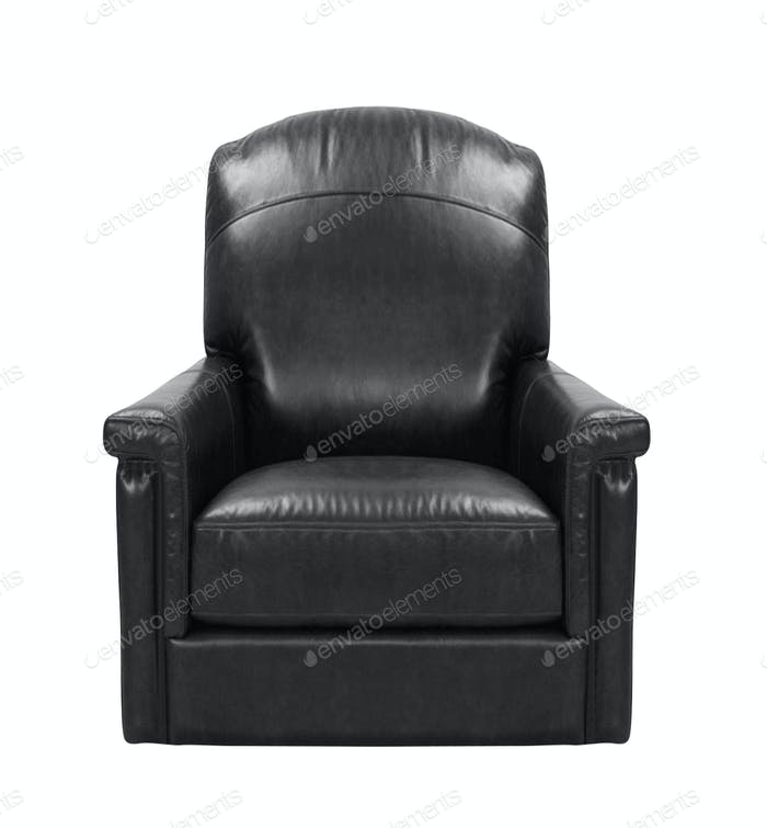 leather arm chair isolated on white