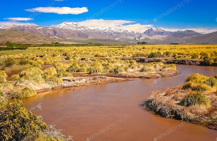 Rio Grande river in Argentina