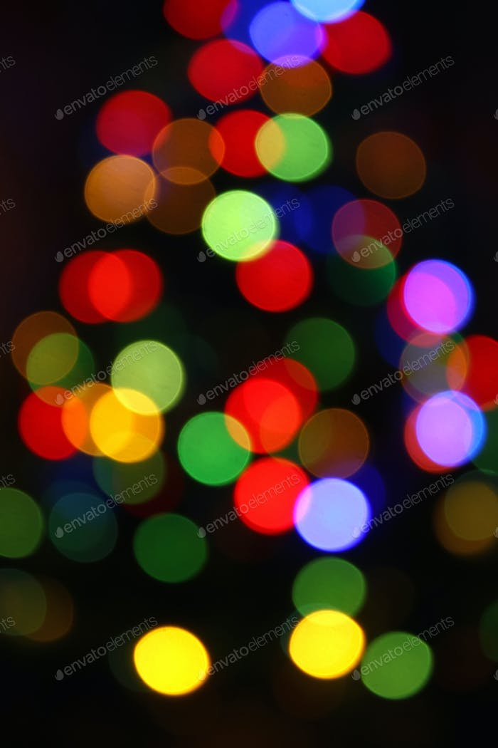Unfocused Bright Colorful Lights Background
