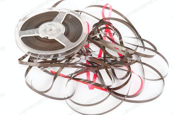 Vintage magnetic audio reel