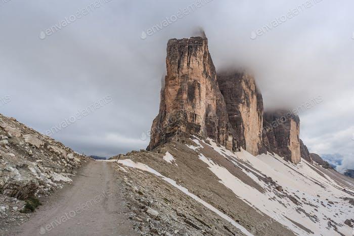Tre Cime. Dolomiten Alpen, Italien