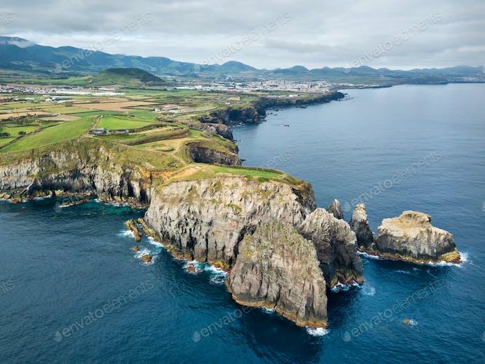 Ponta do Ermo cape, Sao Miguel island, Azores, Portugal