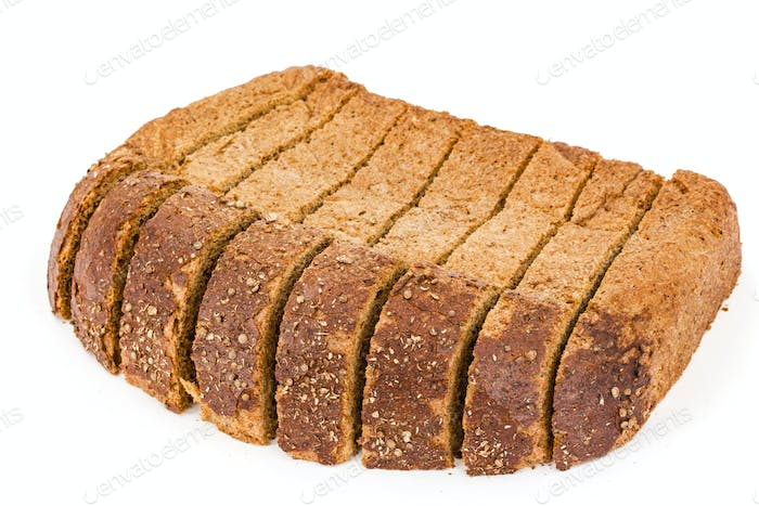Sliced of bread, isolated on white background