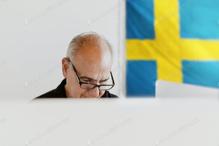 Votación de democracia en Suecia