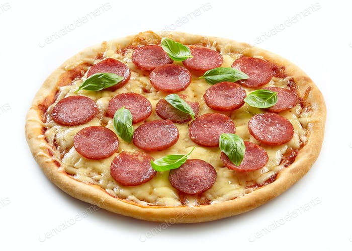 freshly baked pizza