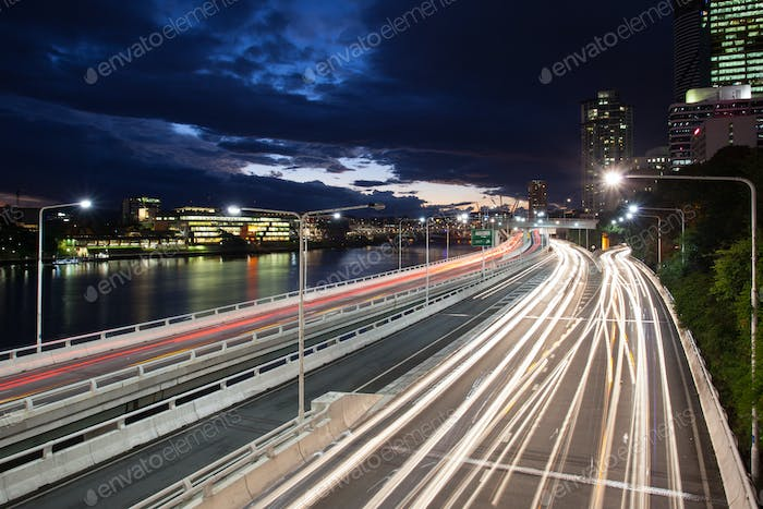 Brisbane Rush Hour Traffic