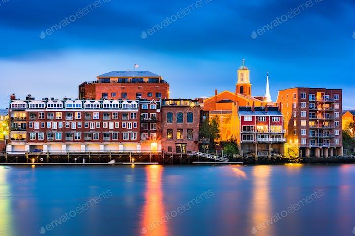 Portsmouth, New Hampshire Skyline