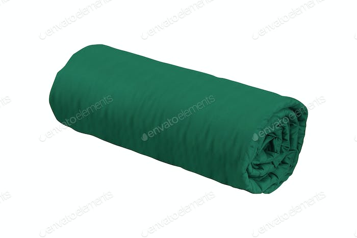 green fleece blanket roll