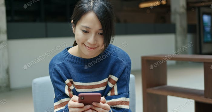 Woman check on cellphone