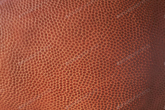 Close Up Texture of a Leather Football