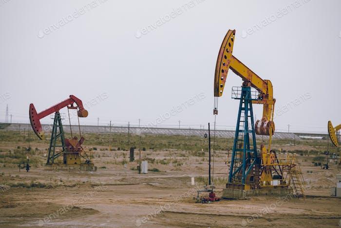 Ölpumpenheber in Betrieb