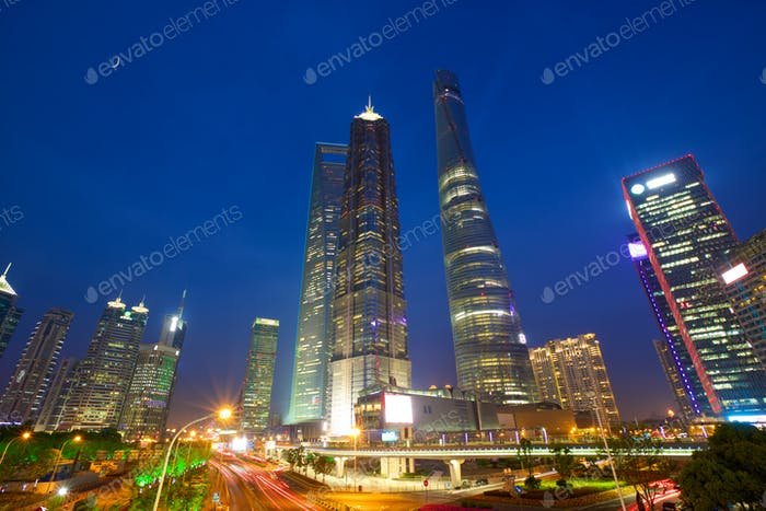 Shanghai urban skyscrapers