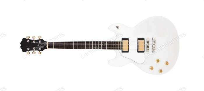 The image of guitar on the white background