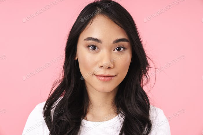 Close up of an attractive young asian woman