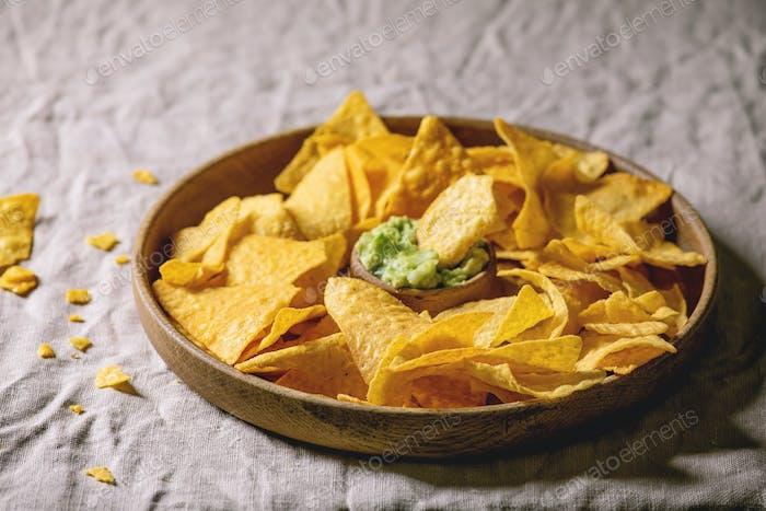 Tortilla nachos chips