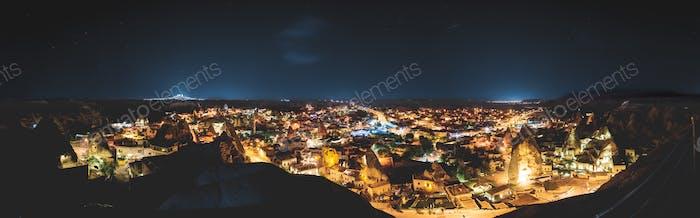 The night time at Cappadocia , Turkey