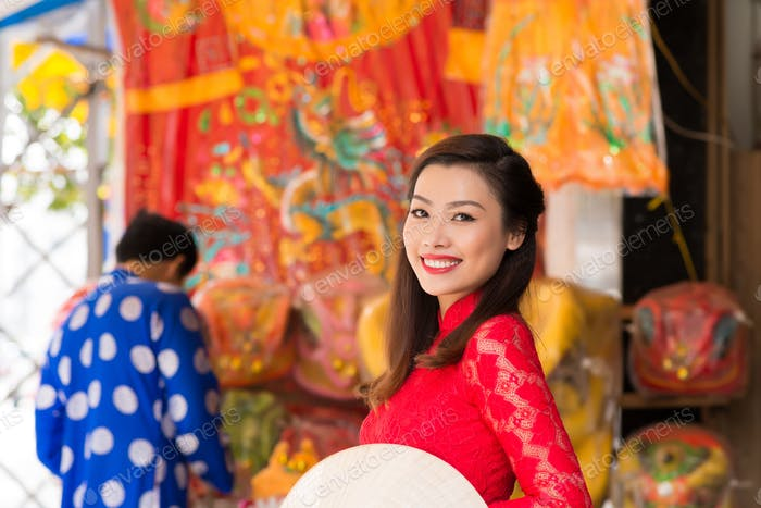 Attractive Asian Woman Posing for Photography