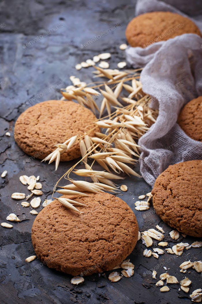 Homemade sweet oatmeal  cookies