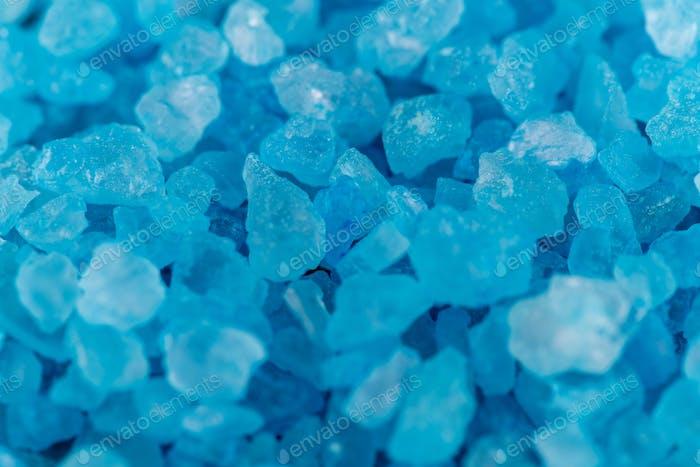 Blue Crystals in Macro
