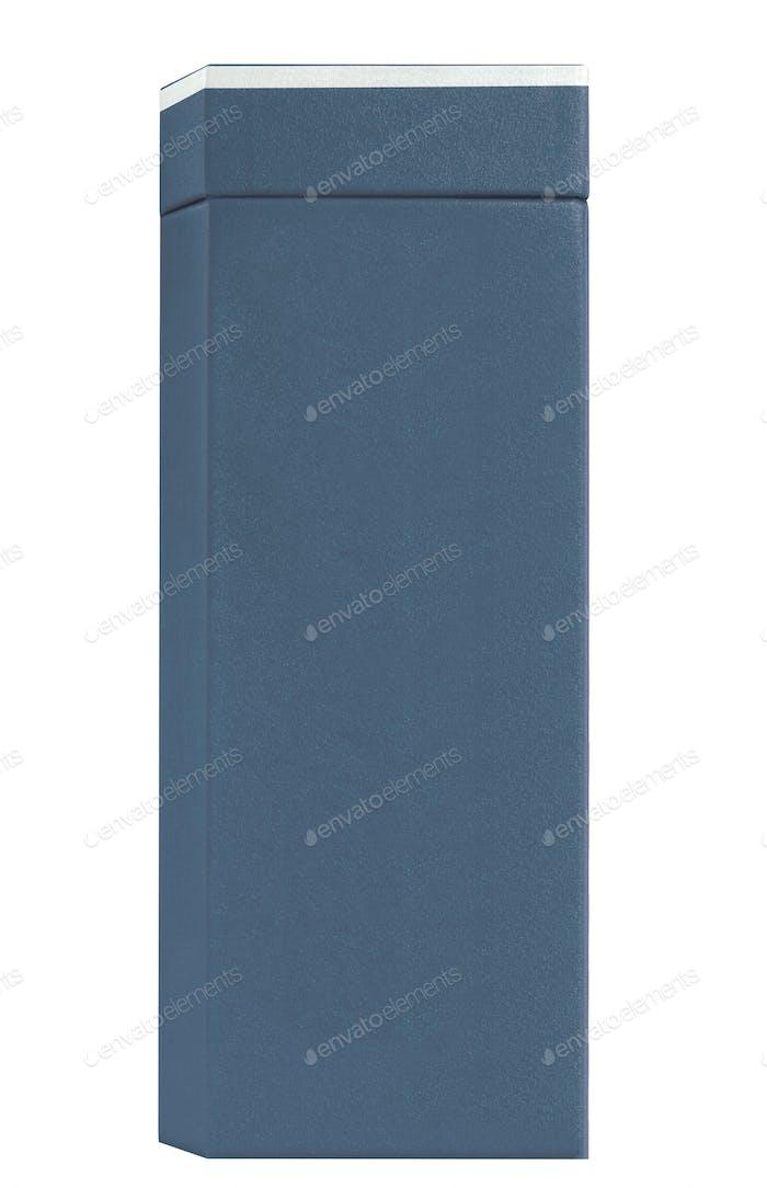 blue wine box isolated