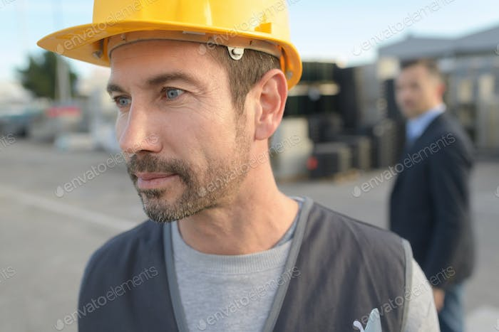 foreman construction engineer worker portrait
