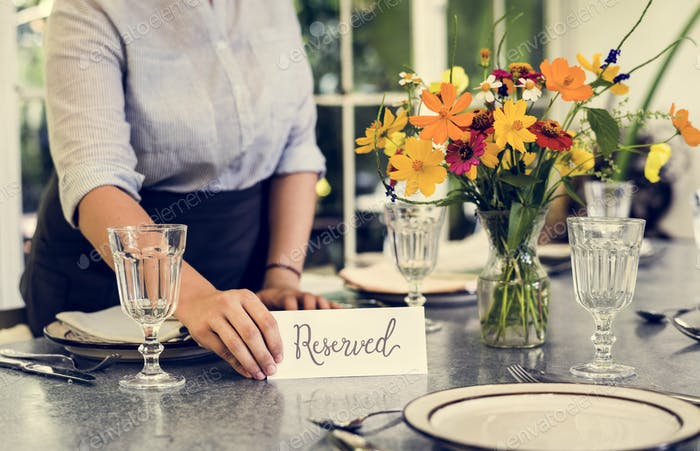 Table reserved in a cafe