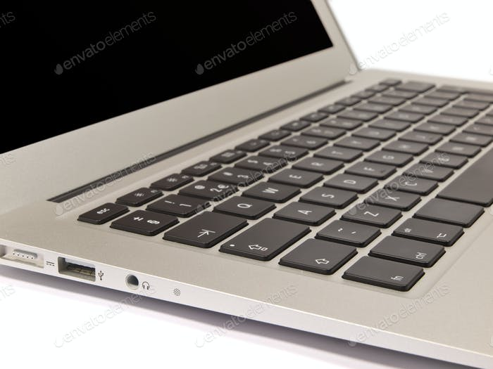 Laptop Keyboard on White Background