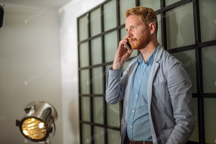 Having an important business call