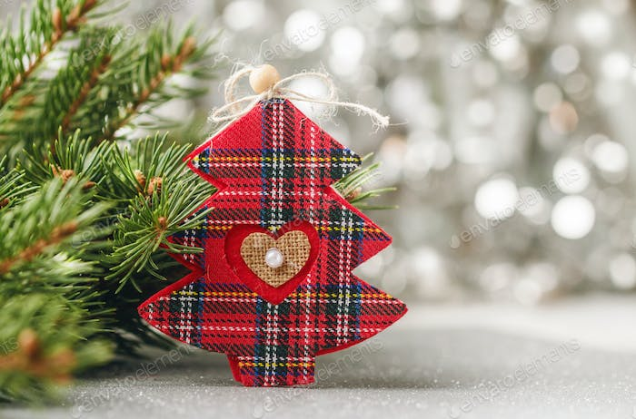 Christmas decoration with fir tree