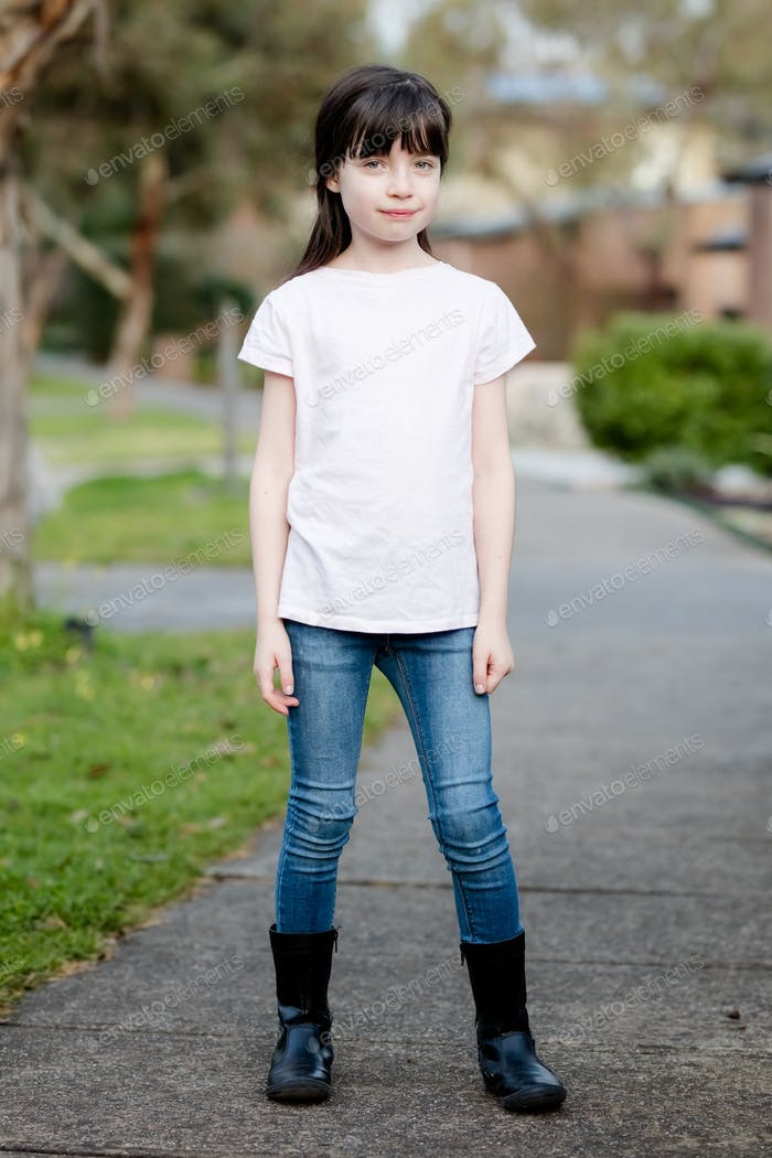 Placeit - Girl Posing Outdoors in the Street