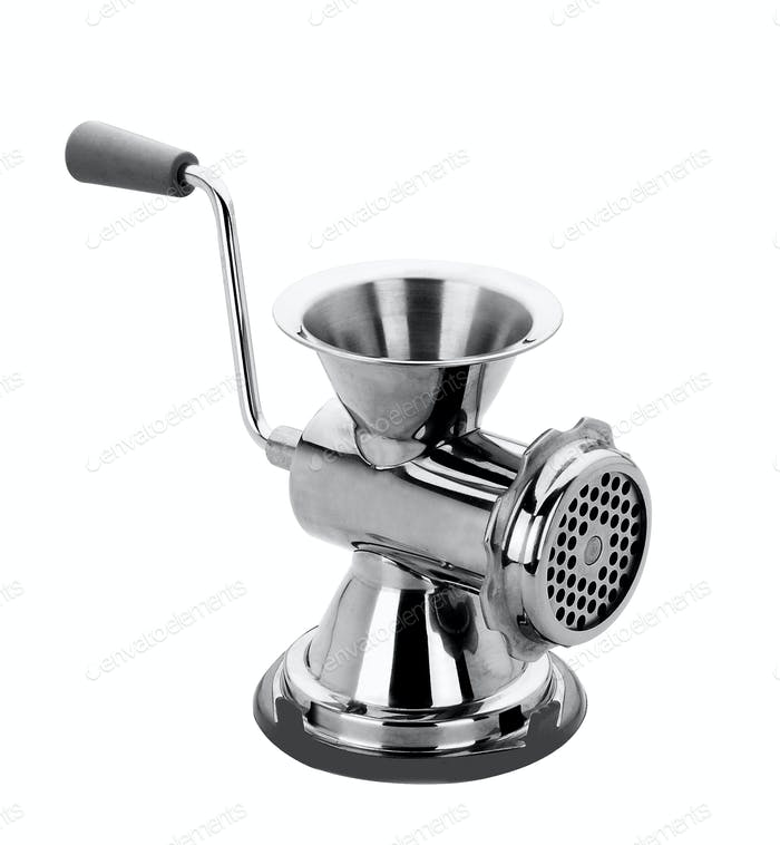 meat grinder on a white background