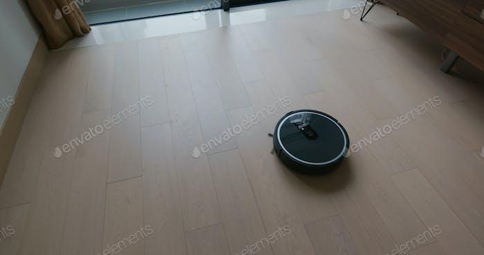 Robot vacuum cleaner on the floor
