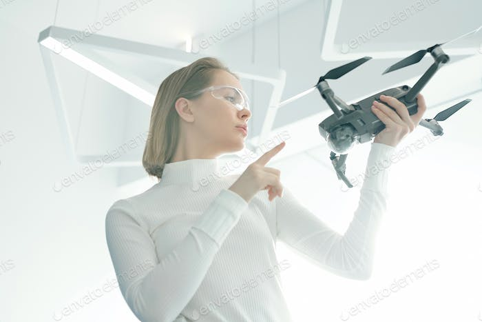 Thumbnail for Woman with modern drone