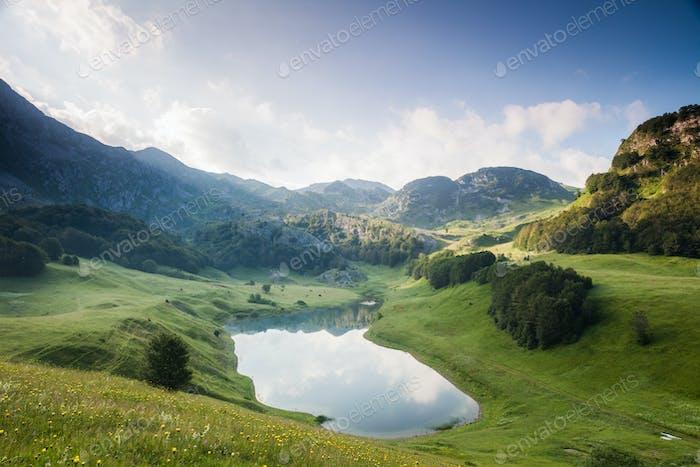 Landscape in mountain