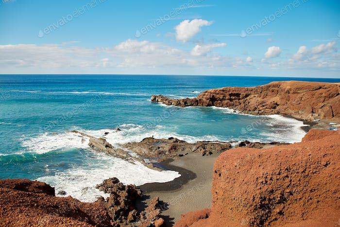 Schöne Landschaft der Insel Lanzarote