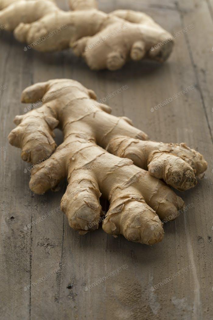 Fresh organic ginger root
