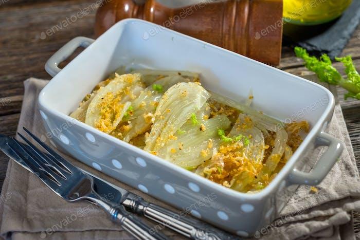 Gebackener Fenchel mit Parmesan