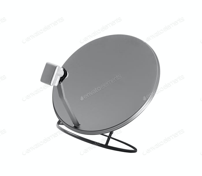 plato de satelite aislado