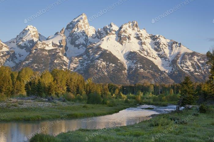 Grand Teton Mountains in Morning Light