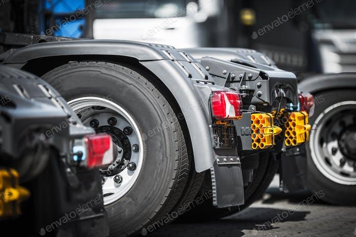 Semi Truck Tractors Closeup