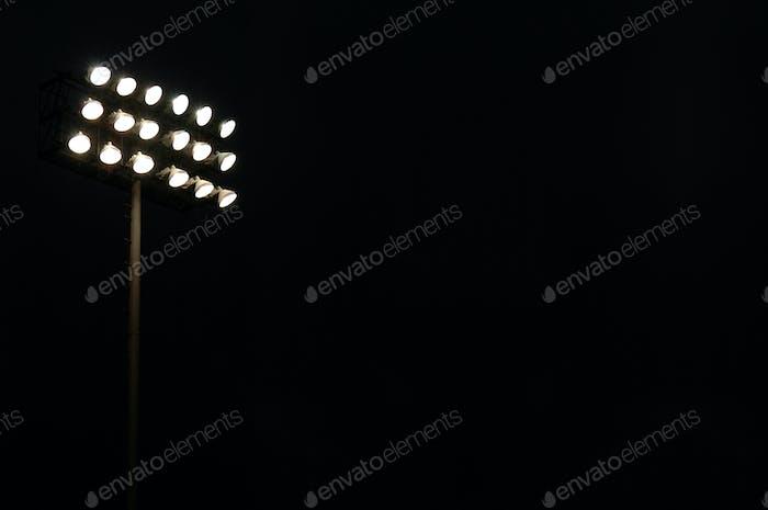 Sports Stadium Lights At Night