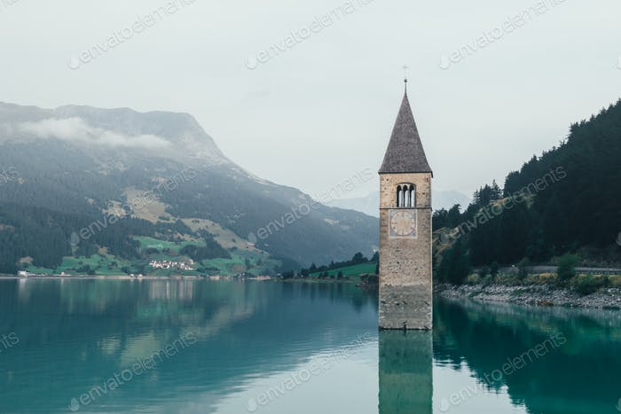 Beautiful view of the lake Resia