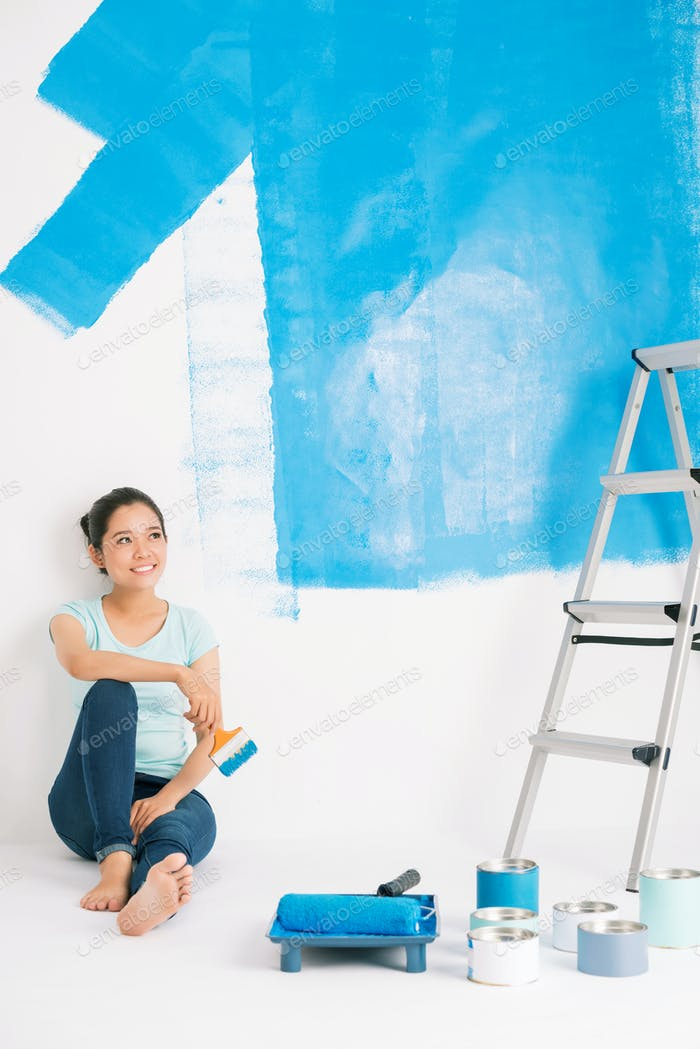 Painting walls blue
