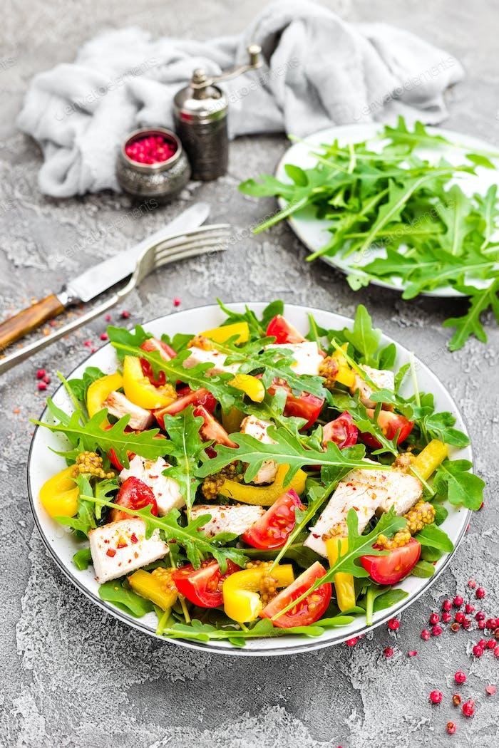 Chicken salad. Meat