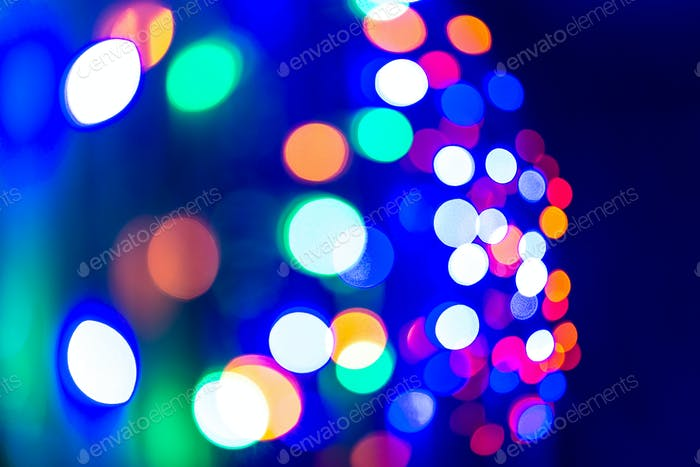 Colorful garland lights background