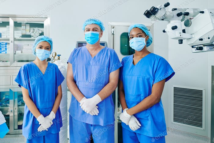 Multi-ethnic surgical team