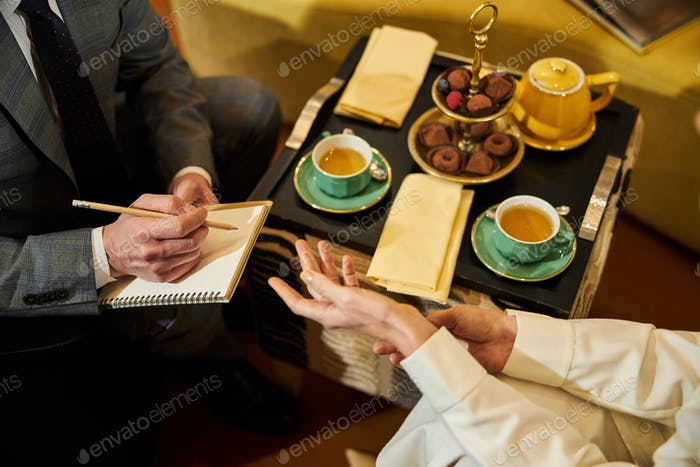 Hot tea and warm conversation to pass the evening